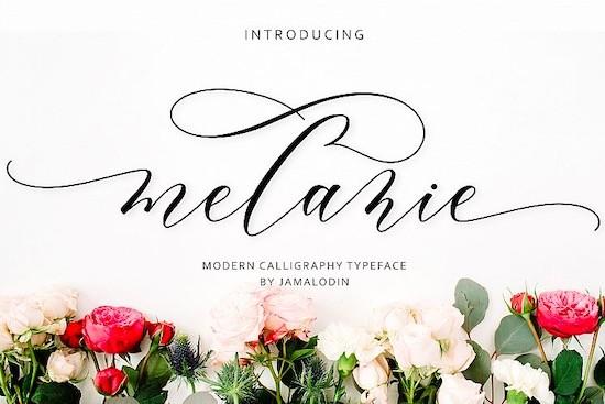 Melanie font