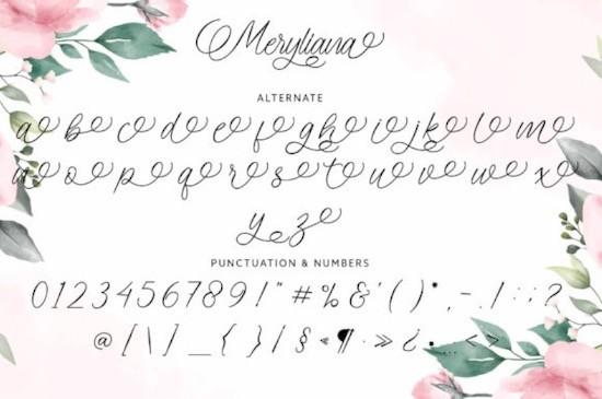 Meryliana font free download
