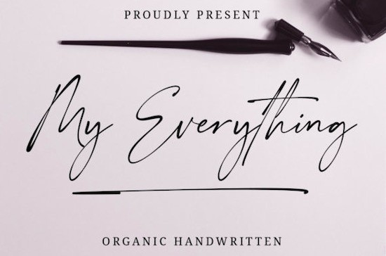 My Everything font free download