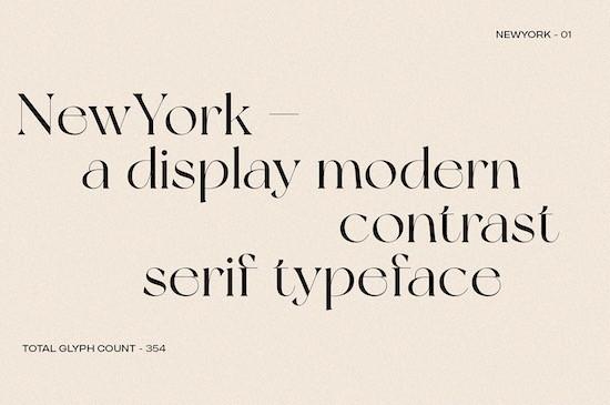 New York font free