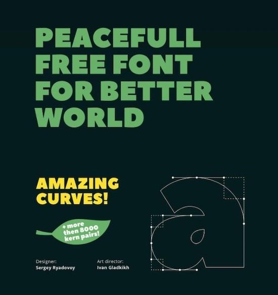 Peace font free