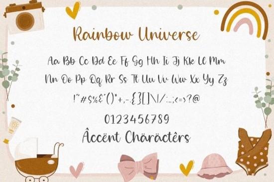 Rainbow Universe font free download
