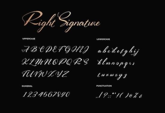 Right Signature font free
