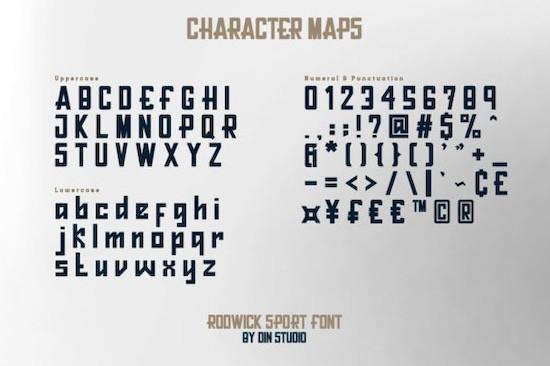 Rodwick font download