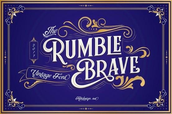 Rumble Brave font download