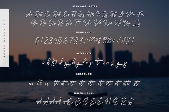 South Harbour Font download