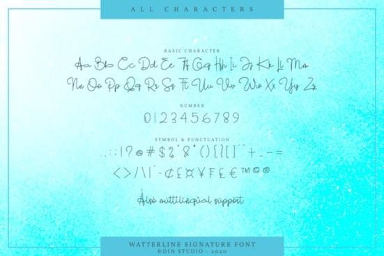 Watterline font download