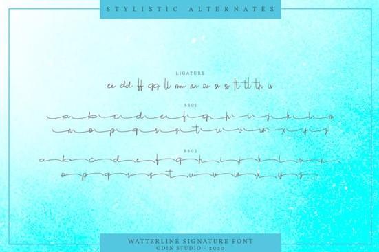 Watterline font free download
