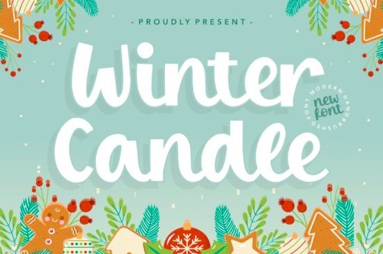Winter Candle Font free download