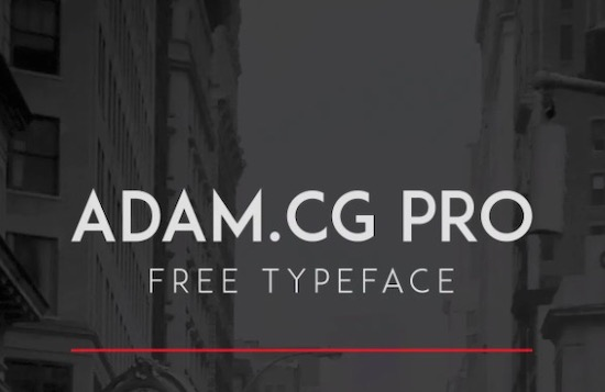ADAM.CG PRO font download free