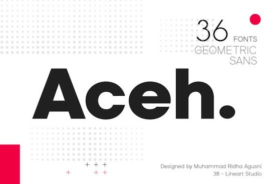 Aceh font family