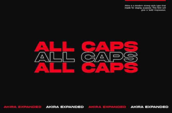 Akira Expanded font free download