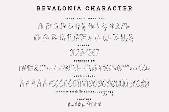 Bevalonia Font download