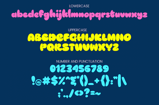 Blob And Happy Font download