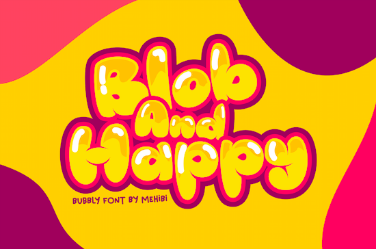 Blob And Happy Font free download