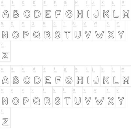 Bubble Letters Font download free