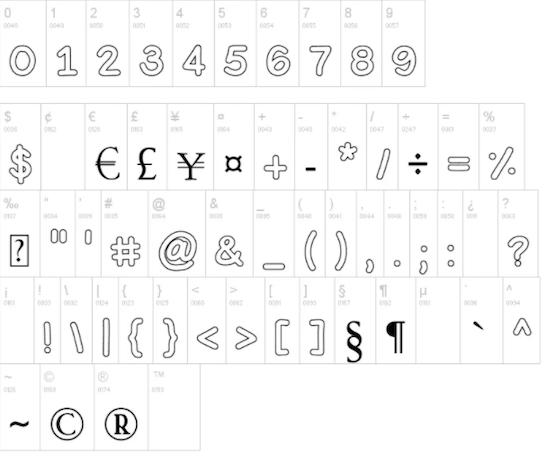 Bubble Letters Font download