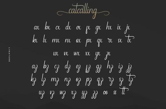 Catcalling font download