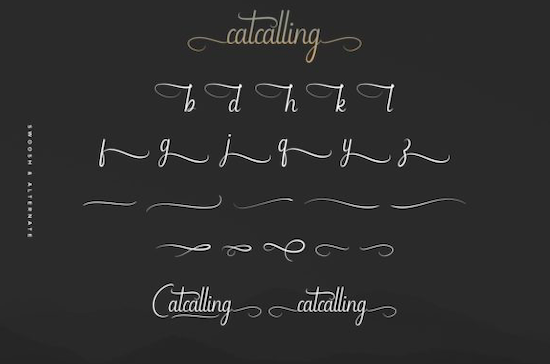Catcalling font free download