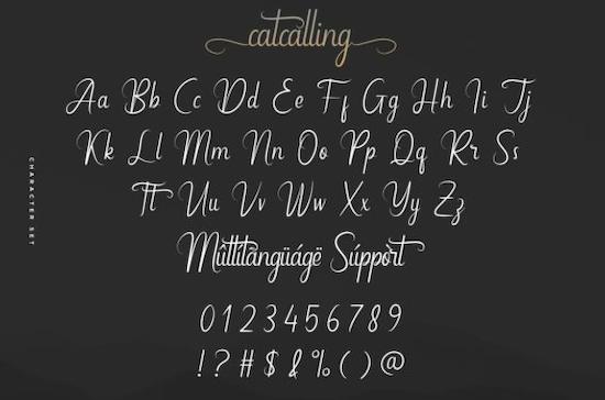 Catcalling font free