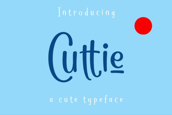 Cuttie font free download