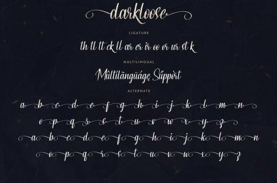 Darkloose Font download