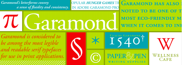 Garamond Font Family free