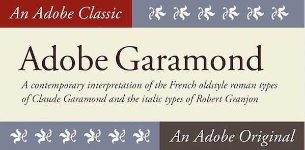 Garamond Font Family