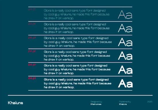 Glora Sans Font Family free