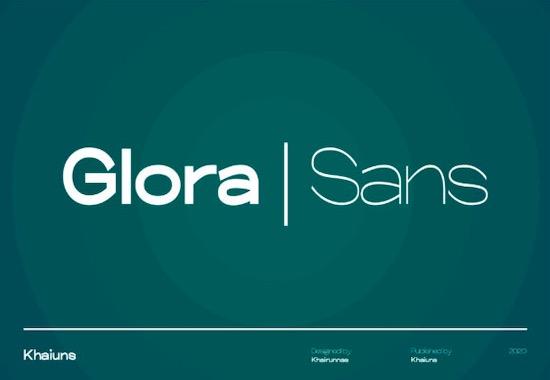 Glora Sans Font Family