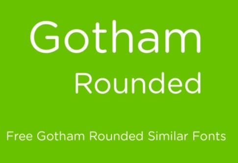 Gotham Rounded Font