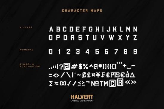 Halvert font download