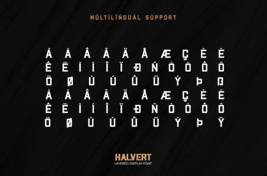 Halvert font free download