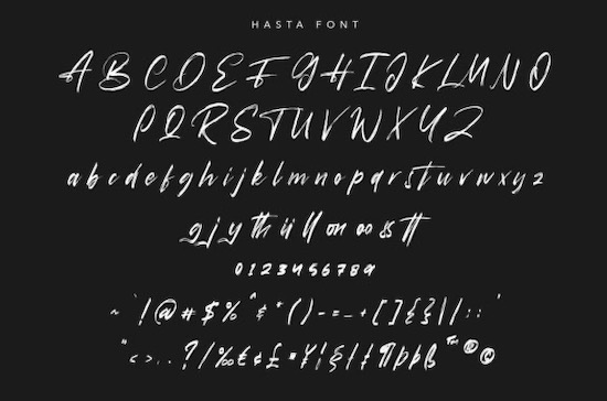 Hasta Font free