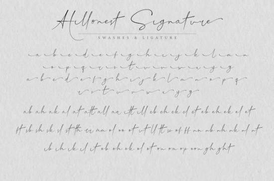 Hillonest signature font download