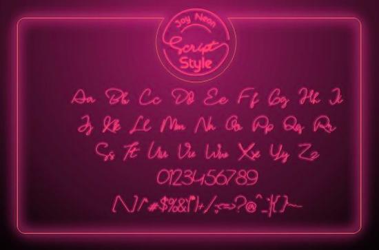 Joy Neon Font download