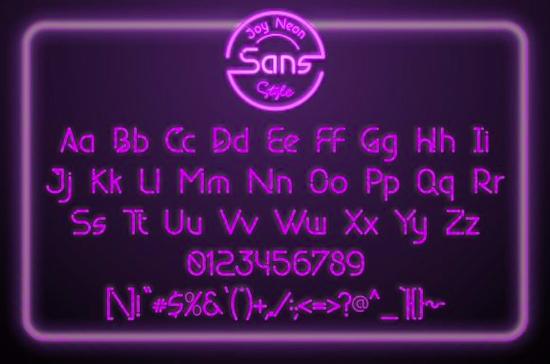 Joy Neon Font frê