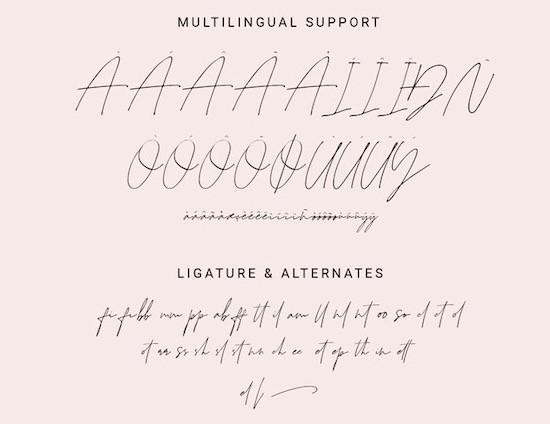 Juliette signature font download