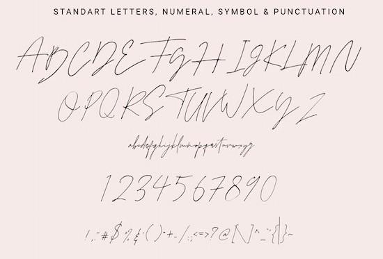 Juliette signature font free