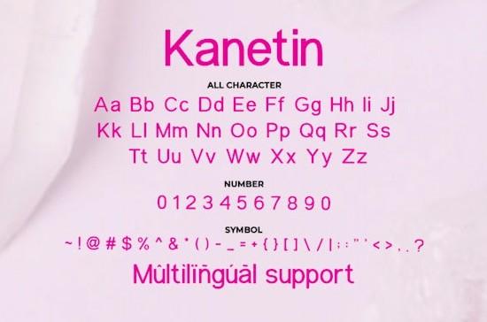 Kanetin font free