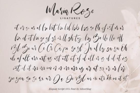 Maria Rose SVG Font download