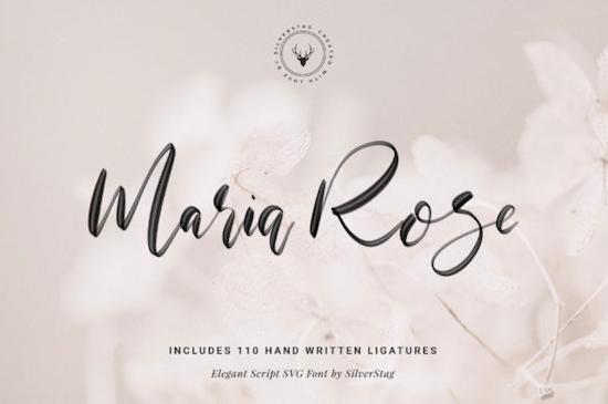 Maria Rose SVG Font