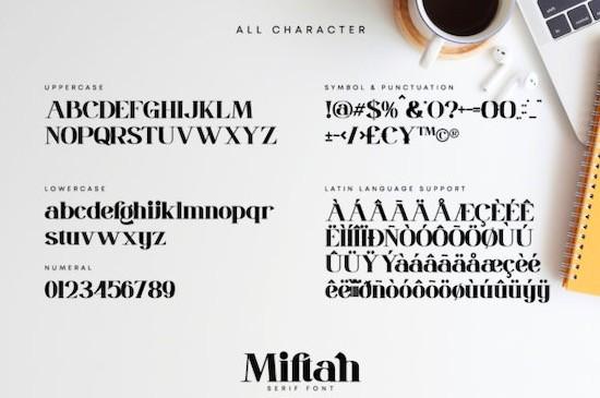 Miftah font free