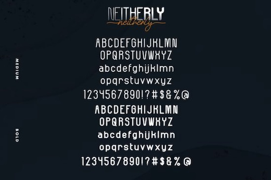 Neitherly Font Duo download