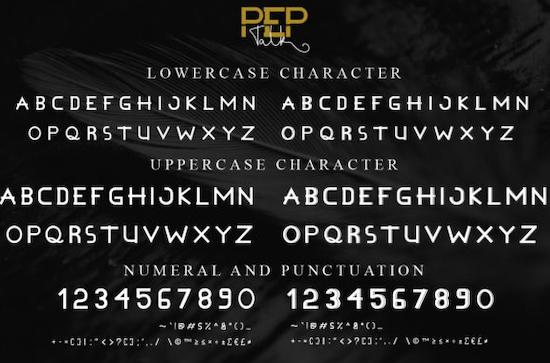 Pep Talk Font Duo download