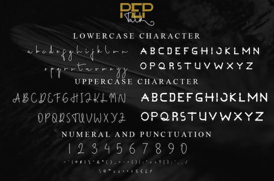 Pep Talk Font Duo free download