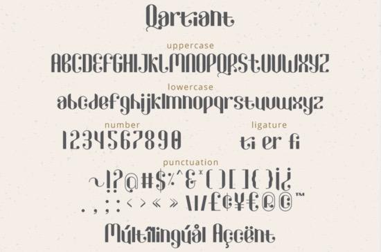 Qartiant font free
