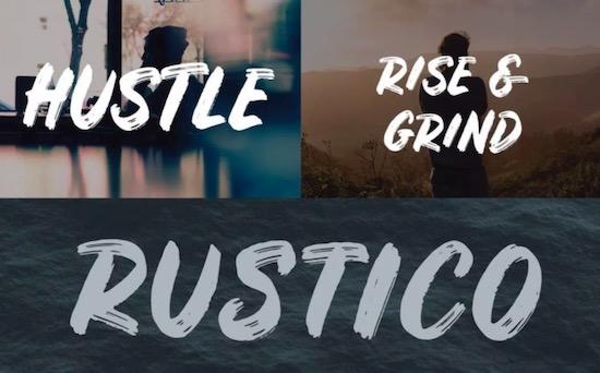 Rustico font download