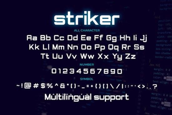 Striker font free