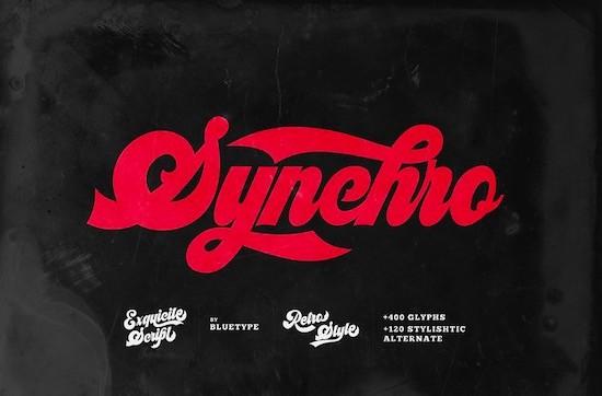 Synchro font free